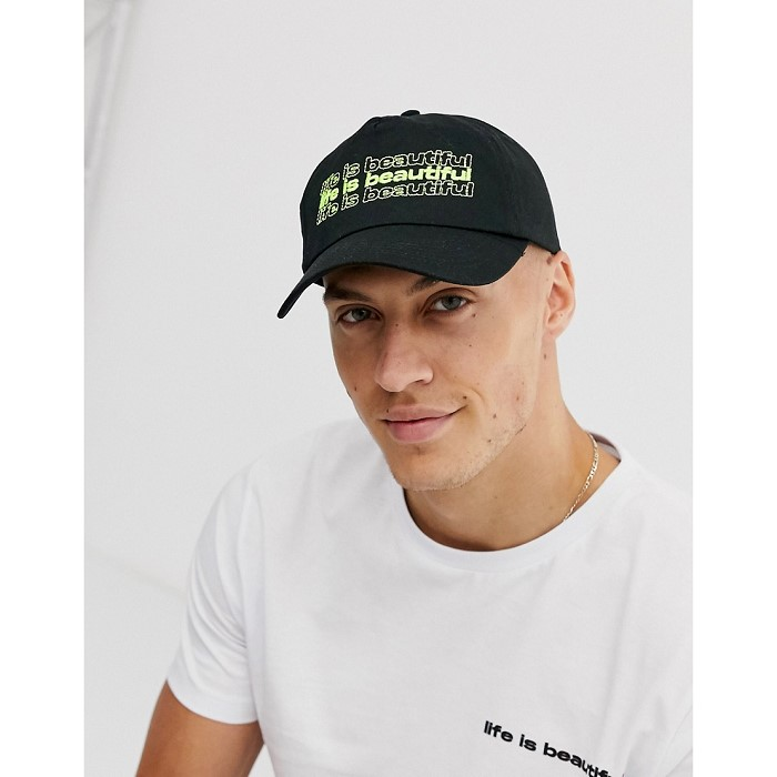 Life is Beautiful LIFE IS BEAUTIFUL unisex cap with logo embroidery 1496934