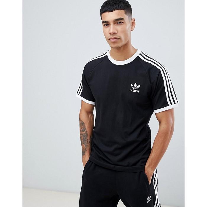 아디다스 adidas Originals 3 Stripe T-Shirt in black 1408814