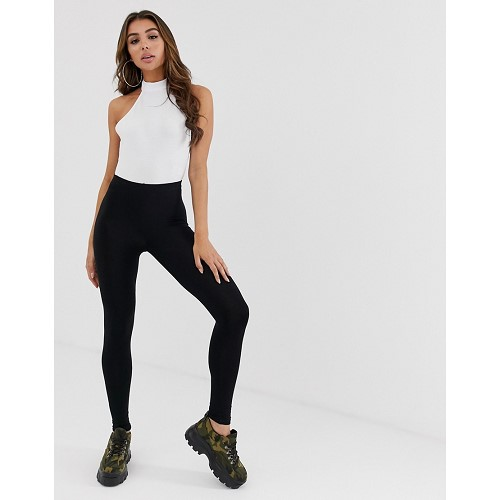 아소스 ASOS DESIGN high waisted leggings in black 1450019