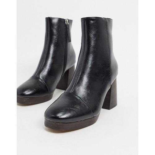 아소스 ASOS DESIGN Rhona platform boots in black 1672421