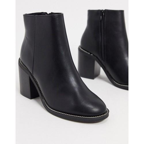아소스 ASOS DESIGN Rising heeled boots in black 1672803