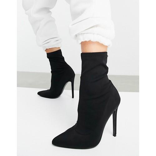 아소스 ASOS DESIGN Esmerelda high heeled sock boots in black 1482759